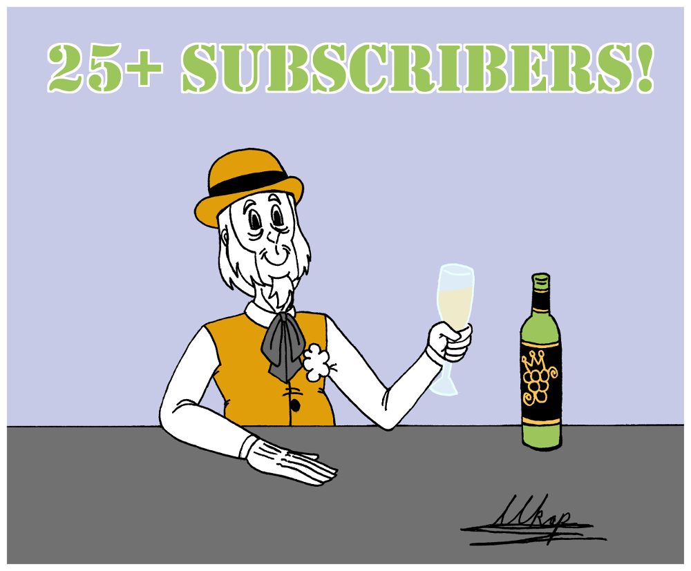 Thank you for 25 Subscriptions!